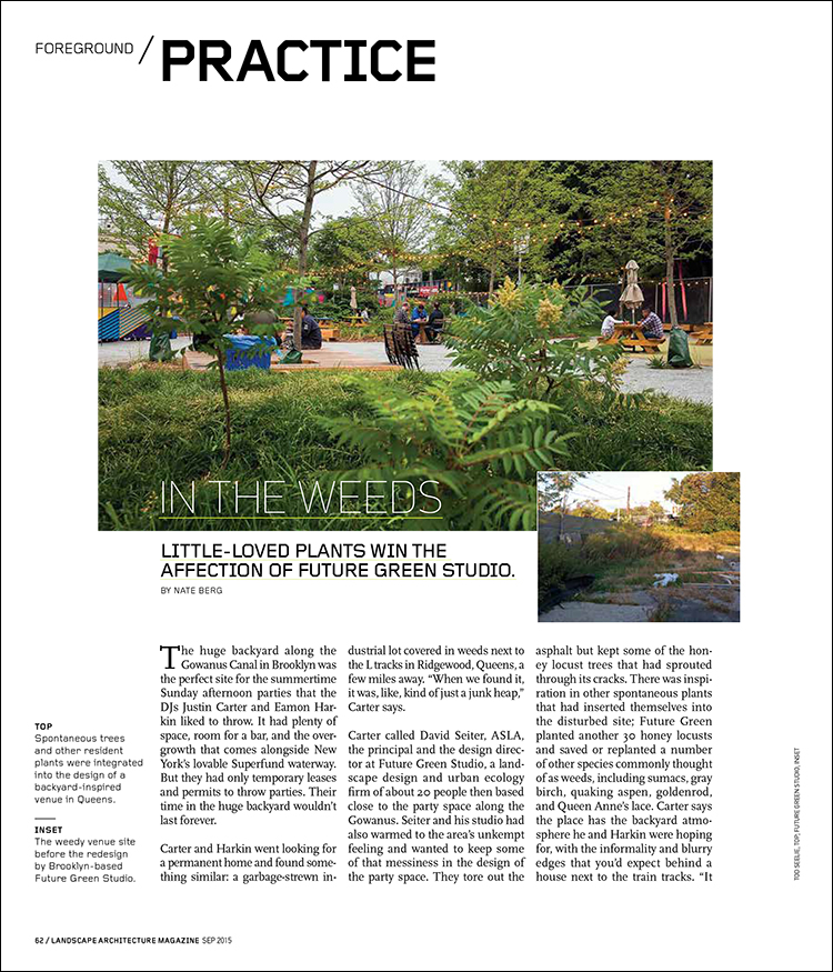 In The Weeds Landscape Architecture Magazine